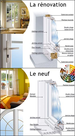 Lapeyre porte fenetre pvc double vitrage devis travaux for Lapeyre fenetre renovation